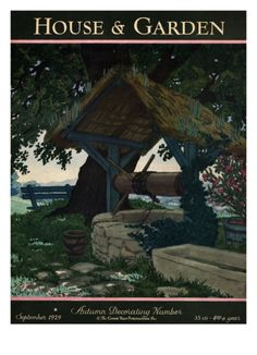 House & Garden Cover - September 1929 Giclee Print by Pierre Brissaud at Art.com
