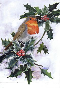 A light dusting, watercolour painting by UK artist Julie Horner