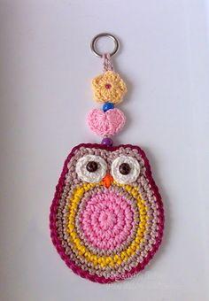 Resultado de imagen para apliques buhos crochet
