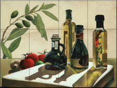 4 Olive Oils by Johanna Uribes - Kitchen Backsplash / Bathroom wall Tile Mural Tile Mural Store-Kitchen,http://www.amazon.com/dp/B00A5TCS2O/ref=cm_sw_r_pi_dp_ZU7Tsb1WNS1C013V