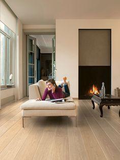 Quick-Step Largo 'White varnished oak, planks' (LPU1283) Laminate flooring - www.quick-step.com