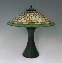 c.1905 | Strobl Pottery Lamp | Arts & Crafts | Bungalow