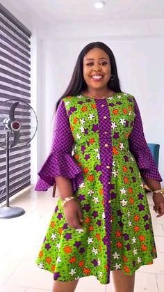 Short African Dresses, Latest African Fashion Dresses, African Print Fashion, Women's Fashion Dresses, Ankara Dress Designs, African Print Dress Designs, Ankara Gown Styles, Whatsapp Logo, African Attire