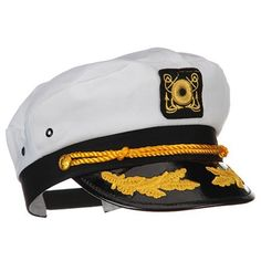 Yacht Captain Hat with Scrambled Eggs Costume Accessory df0ad5c06d0