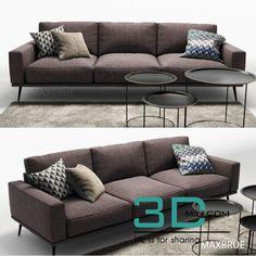 nice 389.Boconcept sofa Download here: http://3dmili.com/furniture/sofa/389-boconcept-sofa.html