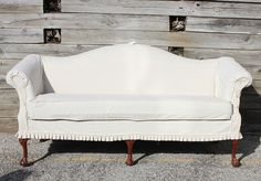 Shabby Chic Queen Ann sofa couch. 780.00, via Etsy.