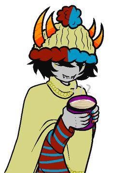 Mituna with hot cocoa