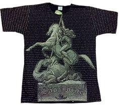 Camiseta com estampa de São Jorge