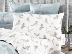 Beautiful detailed eagles printed on crisp cotton make the Nova sheet set a contemporary classic. The twin needle finish adds the perfect touch of modern sophistication. Contemporary Classic, Modern, Linen Bedding, Bed Linen, Luxury Bedding Sets, Style Challenge, Southwestern Style, Bed & Bath, Home Bedroom