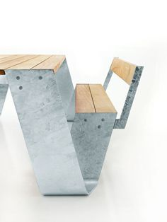 This totally unique patio table by Extremis puts an innovative twist on tradition. The Hopper table by designer Dirk Wynants was inspired by farmers, Urban Furniture, Street Furniture, Design Furniture, Metal Furniture, Furniture Plans, Chair Design, Garden Furniture, Cool Furniture, Painted Furniture