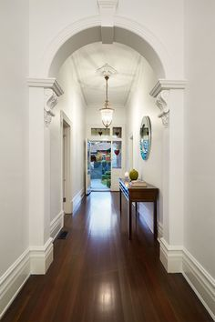 Killer Circular Mirror home remodeling Traditional Entry Melbourne