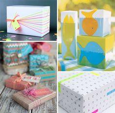 Summery DIY Gift Wrap Ideas