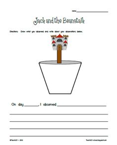 FREE Jack and the Beanstalk science station
