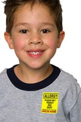 Allergy Alert Name Labels :: Label It Or Lose It :: Personalized Iron-on and Stick-on name labels.