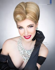 Hair and Beauty Magazine. Step by Step Hair How-Tos. Free Photo gallery of hair styles. Hair Books and DVD Online store. Classy Hairstyles, Party Hairstyles, Vintage Hairstyles, Wedding Hairstyles, Hair And Makeup Artist, Hair Makeup, Medium Hair Styles, Short Hair Styles, Competition Hair