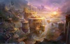 D&d coastal pics Google Search Fantasy landscape Landscape wallpaper Fantasy city