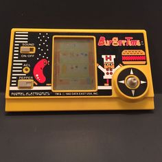 Vintage 1982 BurgerTime Mattel Electronics Handheld Video Game Burger Time Works #Mattel
