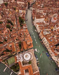 Aerial View of the Grand Canal, Venice