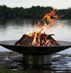 Enjoy the crackle of the logs and the beauty of an open flame with the Stainless Steel Fire Pit.
