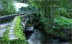 Puente medieval Áspera sobre el río Celeiro. Sarria, Lugo. Waterfall, River, Outdoor, Medieval, Bridges, Photos, Outdoors, Mid Century, Outdoor Living