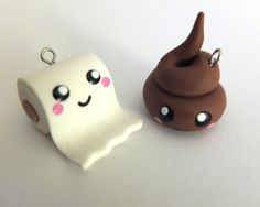 These might be a bit much for the classroom, teehee! 'Poo charm' bedels, by Zwergplumploris via DaWanda