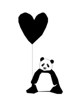 Panda Print van IngridPetrieDesign op Etsy