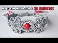 How to macrame: The Navita bracelet - Macrame jewelry set - YouTube