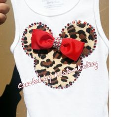 Leopard Minnie Mouse Shirt Mommy And Me Shirts by KustomKutiez, $16.00