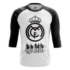 397ddf3b14b Marvelous Raglan sleeve mens t-shirt FC Real Madrid Merchandise Football  Clothing fan art –