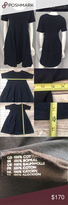 🍂Sz Large COS Navy Pleated Skirt Scoop Neck Dress Measurements are in photos. Normal wash wear, no flaws. E1/33  I do not comment to my buyers after purchases, due to their privacy. If you would like any reassurance after your purchase that I did receive your order, please feel free to comment on the listing and I will promptly respond.   I ship everyday and I always package safely. Thank you for shopping my closet! COS Dresses