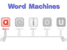Word Machines - perfect for teaching how to slide through (sound out) words and blend