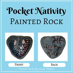 Pocket Nativity Painted Rock
