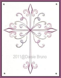Embroidery Paper Easter Curly Cross Paper Embroidery Pattern for Greeting Cards - Embroidery Cards, Learn Embroidery, Embroidery Thread, Embroidery Patterns, Shirt Embroidery, Flower Embroidery, Card Patterns, Doily Patterns, Dress Patterns