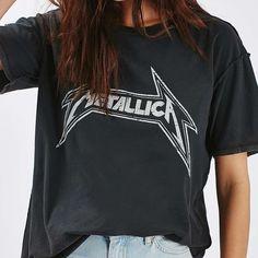 Topshop Tops - Topshop Metallica t shirt