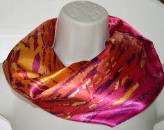 Multicolor infinity scarf multicolored infinity by byJuliasDesigns