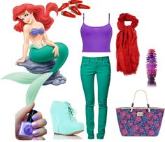 """ARIEL - A Modern Disney Princess"" by anra on Polyvore"