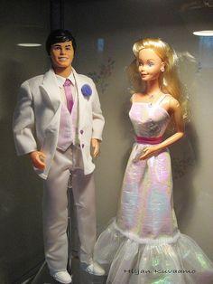Crystal Ken and Crystal Barbie 1982 by hiljaleena, via Flickr