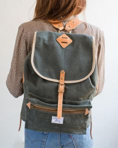 Rucksack with Leather Straps – Artifact Bag Co.