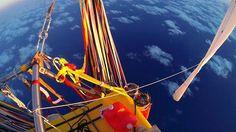 Über 160 Stunden in einem Ballonkorb - unbequem, aber mit fantastischen Ausblicken verbunden.