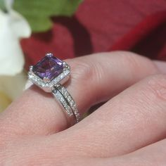Engagement Ring Amethyst Engagement Ring by LaurieSarahDesigns