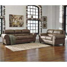 Burnsville Sofa and Loveseat in Espresso | Nebraska Furniture Mart