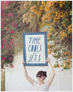 Time Cools All Jets Banner. $150.00, via Etsy.