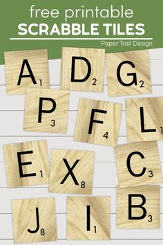 Print these fun scrabble tiles with or without the wood grain background to make a fun DIY home decor or craft project. Fun Arts And Crafts, Arts And Crafts Projects, Easy Diy Crafts, Fun Diy, Printable Scrabble Tiles, Scrabble Letters, Diy Letters, Free Printable Art, Printable Crafts