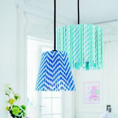 paper straw lamp diy