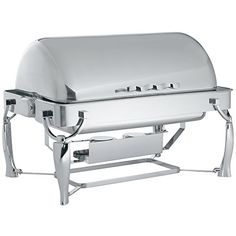 Vollrath 4634010 9 Qt Somerville Rectangular Chafer  Fully Retractable Roll Top ** You can get more details by clicking on the affiliate link Amazon.com.