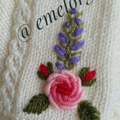 Embroidery Art, Embroidery Patterns, Baby Poncho, Brazilian Embroidery, Baby Knitting Patterns, Crochet Baby, Elsa, Baby Dress, Stitch
