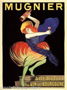 Affiche de l'apéritif Mugier au vin de Bourgogne.