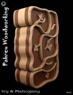 Ivy & Mahogany - Bandsaw box - Jewelry box. €180.00, via Etsy.