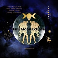 Moon Phases: How to Use the Lunar Cycle to Stay Well and on Track - HolisticTreats London Natural Therapies November Full Moon, Full Moon Eclipse, Witchy Garden, Spiritual Symbols, Candle Magic, Moon Phases, Blue Moon, Deities, Gemini