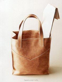 Hand-Sewn Leather Zakka Style Japanese by JapanLovelyCrafts